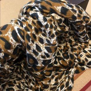 bcbg leopard print scarf